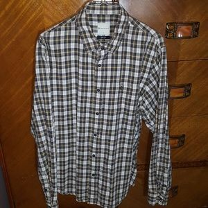 AG Adriano Goldschmied plaid shirt, size Large.